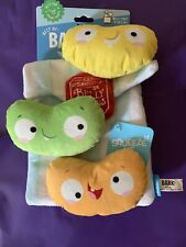 Barkbox Jelly Mr. Brindlecoat's Belly Beans Dog Toy Bark Box Squeak And Crinkle