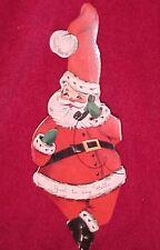 Vintage Fold Out Santa Christmas Greeting Card Die Cut Garland Cardinal Creation
