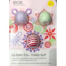 EOS Lip Balm Trio Visibly Soft Moisturised Smooth Delightful Cocoa Shea Butter