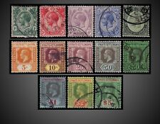 1912 - 1918 STRAITS SETTLEMENTS KING GEORGE V USED + TWO MINT