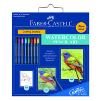 FABER-CASTELL USA 800094 GETTING STARTED WATERCOLOR PENCIL ART SET