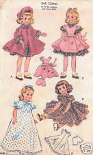 """1717 Slender Vintage Doll Pattern - Sizes 12"""" &/or 15""""- 1952 Korean War"""