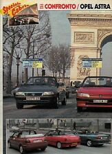 Z85 Ritaglio Clipping 1994 Opel Astra 1.4 Peugeot 306 1.8 VW Golf 2.0 Cabriolet