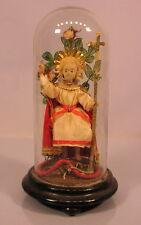 Altes Prager Jesuskind im Glassturz 19 Jahrhundert