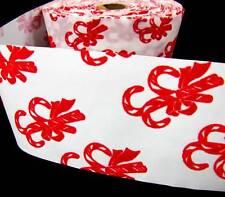 "1 Yd Velvet Candy Canes Ribbon 3 1/4""W"