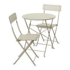 Ikea Saltholmen Outdoor Table And 2 Folding Chair Patio Balcony Bistro Beige