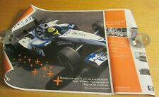 "HP 2004 18""X27"" BMW Williams Formula 1 Racing Car Promotional Poster"