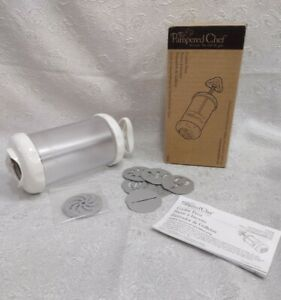 Plastic See Through Cookie Press10 Disc Set Includes A Ricer                D