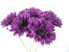Quality  Artificial/Silk  Flowers  Cadbury Purple  Gerbera Bunch of 6 Stems