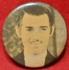 "Vintage CLARK GABLE PINBACK BUTTON - Movie Star - 1.25"" in Diameter"