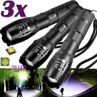 Police 90000LM T6 LED 18650 Super Bright Zoom Flashlight Powerful Lamp Torch.