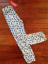 NWT Vintage Gymboree Girls Cropped Knit Pants Size 7 Malibu Cowgirl Line Floral