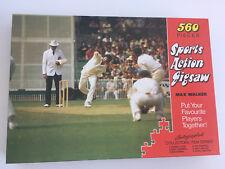 Vintage 70s Max Walker Sports Action Jigsaw World Series Cricket Test Match