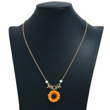 Sunflower Necklace Silver Boho Pendant Chain Summer Clavicle Gold New