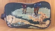 Gillette Toiletry Travel Shaving Kit Bag Pouch Tapestry Golfing Zipper Strap