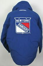 New York Rangers Vintage 90's Starter NHL Insulated Hooded Parka Jacket Large