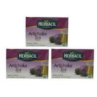 Herbacil Artichoke Diet Tea. Weight Loss & Fat Burn. 25 Bags. 0.88 Oz. Pack of 3