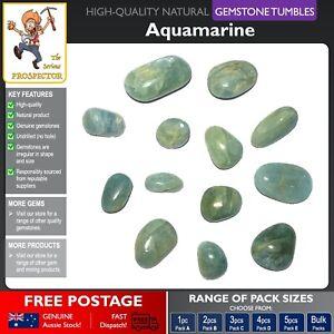 Aquamarine Gemstone Tumbles | Natural Gem Stone | Crystal | Tumbled Polished