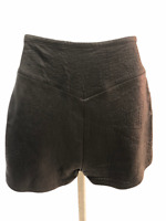 Vintage VTG 1970s 70s Leather Black Whipstitch Whipstitched Shorts