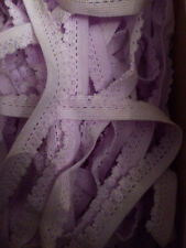 Frilly lilac lace elastic trim tape 20 yards 3/8 in.