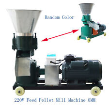 Portable 220v Fish Chicken Feed Pellet Mill Machine 8mm Holes Plate 14 239400