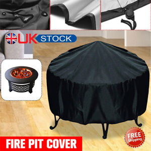 """30"""" Waterproof Patio Fire Pit Cover Round Grill BBQ Cover Outdoor Yard Dustproof"""