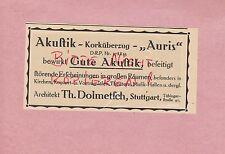 Suttgart, publicidad 1914, th. Dolmetsch acústica-korküberzug auris