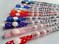 PERSONALISED DUMMY CLIP, SUITABLE FOR REBORN DOLLS POLKA DOT RANGE