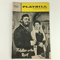 1968 Playbill Majestic Theatre 'Fiddler on the Roof' Harry Goz, Maria Karnilova