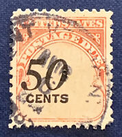 SHIFT ERROR US POSTAGE DUE 50C STAMP, RARE FIND