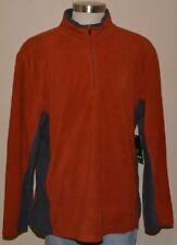 NordicTrack Spice Orange Soft Fleece Pullover 1/4 Zip Sweater Men's XXL NWT