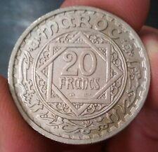 MAROC - Monnaie marocaine de 20 francs Date 1366 ( 1946 ) quasi UNC ! RARE !!