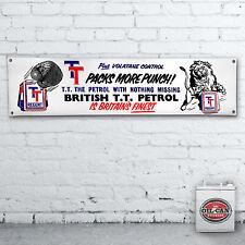 TT Petrol Banner  –  heavy duty,  workshop, garage, man cave retro 1200X305mm