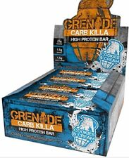 CARB KILLA GRENADE Lot 12 Barre énergétique protéine 60 g Cookies & cream