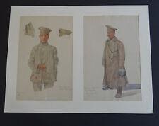 """Orig. Zeichnung  W. Morisse Oldenburg """"Russischer  Waffenrock""""  Militär  IR 114"""