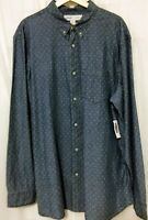 Old Navy Men's Blue Cotton Shirt Button Up Long Sleeve Size XXL New With Tags