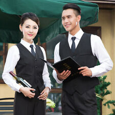 Mens Casual Jacket Slim Vest Sleeveless Button Pockets Waistcoats Work Wear Tops