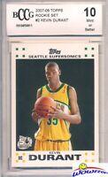 2007/08 Topps #2 Kevin Durant ROOKIE BECKETT 10 MINT Warriors Superstar MVP!