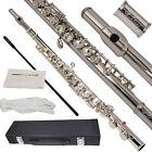 Bentoni NEW Nickel/Sliver School Band Student Clarinet C Flute w/Split E flute