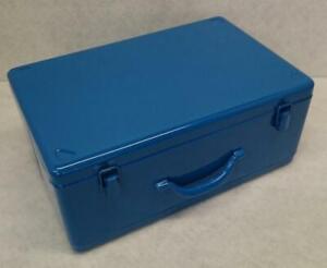 Metallkoffer Werkzeugkoffer Maschinenkoffer Stahlblechkoffer ca. 430x280x180mm