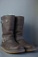 kensington ugg boot Size Uk 4.5 Brown Leather Womens Mid Calf