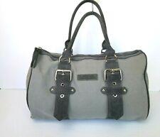 Kate Moss Longchamp Canvas Satchel Handbag Gray