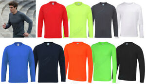 LONG SLEEVE WICKING T-SHIRT BY AWDis. JUST COOL FOR TRAINING, WORK OUTS, RUNNING