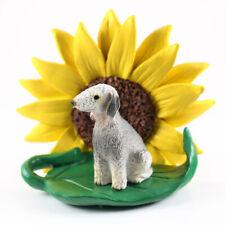 Bedlington Terrier Sunflower Figurine