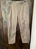 "J Jill Womens Pants ""clay"" Brown Cinched Ankle NWOT Size 10"