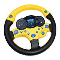 Simulates Copilot Yellow Steering Wheel Perfect Playmate for Toddler Kids