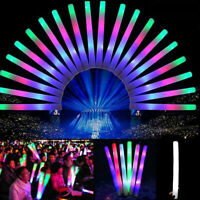 LED Light Up Sponge Foam Sticks Wands Party Rave Cheer Tube Toy Decoration