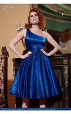 PINUP COUTURE Valerie Royal Blue Swing Dress Pinup Girl Clothing XL $144