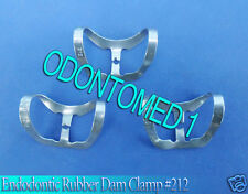 12 Endodontic Rubber Dam Clamp #212 Surgical Dental Instruments