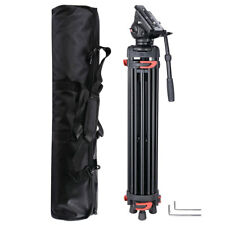 "71"" DV Video Camera Adjustable Tripod Stand Fluid Pan Head Portable Travel"